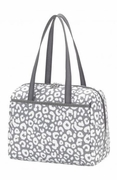 Personalized Grey Leopard Lunch Tote Bag