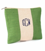 Personalized Jute Cosmetic Bag|Monogram