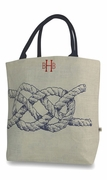 Personalized Jute Tote Bag - 3 styles - Rope - Lobster - Whale