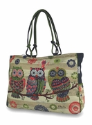 Personalized Owl Shoulder Duffle Tote Bag