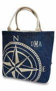 Personalized Sailboat Compass Tote Bag|Embroidered