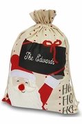 Personalized Santa Gift Bag|Embroidered
