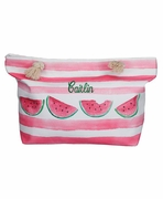 Personalized Watermelon Beach Tote Bag