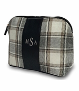 Plaid Accessory Pouch|Monogrammed