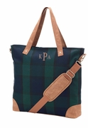 Plaid Satchel Tote Bag|Monogram