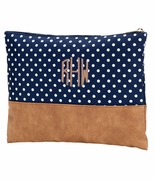 Polka Dot Accessory Pouch|Monogram