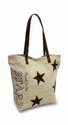 Reach for Stars Canvas Tote Bag