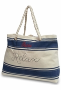Relax Beach Tote Bag|Embroidered