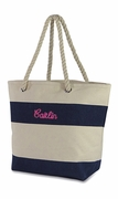 Small Cute Beach Tote Bag|Stripe|Monogram