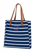 Striped Carry All Tote Bag|Monogram