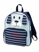 Striped Puppy Preschool Backpack|Embroidered|Personalized
