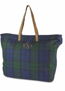 Tartan Plaid Carry All Tote Bag|Monogram
