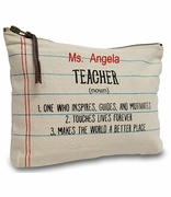 Teacher Accessory Pouch|Personalized