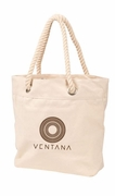 Trendy Rope Handle Canvas Tote