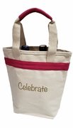 Two Bottle Canvas Celebrate Wine Tote