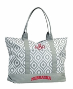 University Nebraska Tote Bag|Monogrammed
