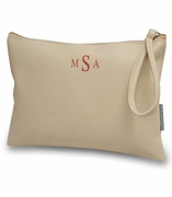 Vegan Wrist Accessory Bag|Monogram