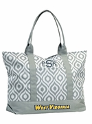 West Virginia Ikat Tote Bag|Personalized|Monogrammed