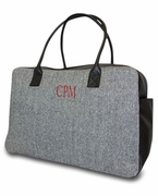 Women's Herringbone Travel Bag|Monogram
