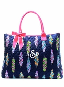 Women's Quilted Tote Bag|Monogrammed