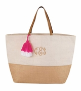 Women's Trendy Jute Tote Bags|Personalized|Monogrammed