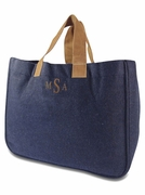 Wool Blend Tote Bag|Monogram