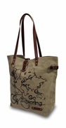 World Map Canvas Tote Bag