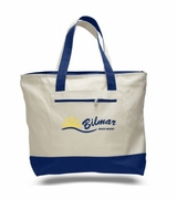 Zippered Customized Canvas Tote Bag