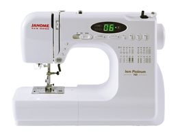 Janome New Home Jem Platinum JNH 720 Computerized Sewing and Quilting Machine<p><b><font color=red>FREE BONUS KIT INCLUDES 3 FREE JANOME FEET + 6 Extra Bobbins and 2 Assorted Packs of Needles</font></b></p>
