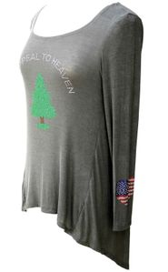 An Appeal to Heaven Army Green Flowy Top Washington Flag Logo by Beauty for Ashes