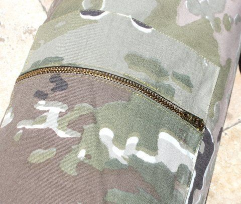 Hand Made Flag Bag Camouflage Canvas w/Zippered Compartment by Love Beauty for Ashes®