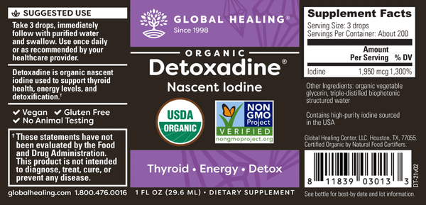 Global Healing Organic Detoxadine® Nascent Iodine from Ancient Salt Beds by Dr. Group