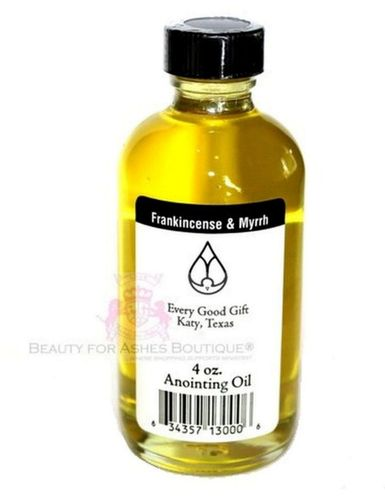 Oil of Gladness Frankincense & Myrrh Anointing for Prayer Refill 4 oz