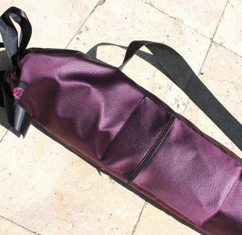 Rich Purple w/Black Accents & Zippered Compartment Flag Bag by Beauty for Ashes®