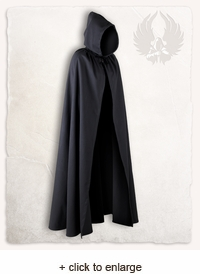 Aaron Canvas Hooded Cape
