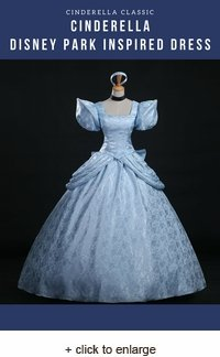 Classic Cinderella Disney Park Brocade Dress