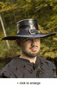 Leather Witch Hunter Hat