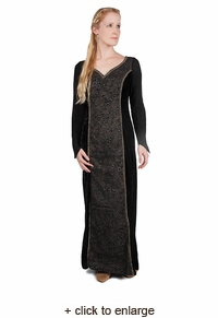 Norman Dress With Net Sleeves