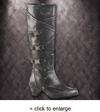 Pewter Warlord Steampunk Womens Boots