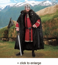Ragnar Fur Hooded Viking Cloak
