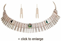 Silver Shell Choker Necklace & Earring Set
