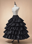 Four Ring Hoop Skirt with Ruffles