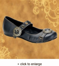 Steampunk Mary Jane Flats
