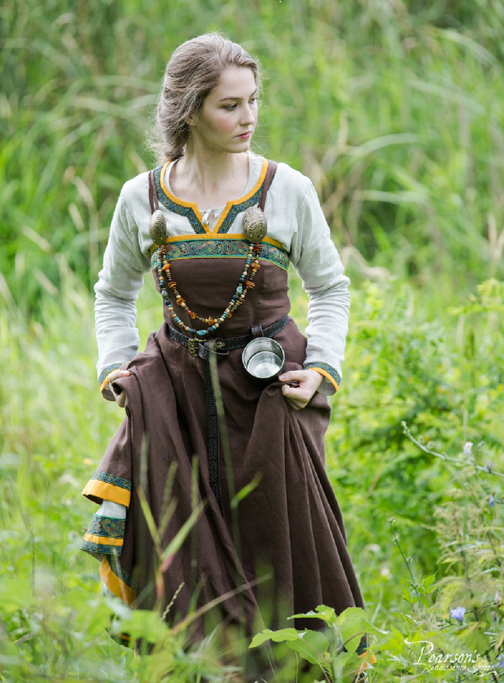 Viking Linen Dress And Apron Ingrid The Hearthkeeper
