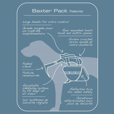 Baxter Dog Backpack