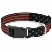 USA American Pride Vintage US Flag Dog Collar