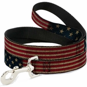 Vintage American Flag Dog Leash