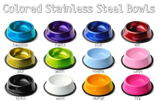 c86e65ba164b Personalized Dog Bowls | Personalized Pet Bowls In Colored Stainless ...