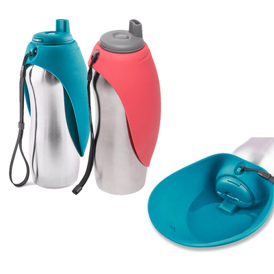 Dog Travel Water Bottle & Bowl