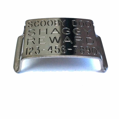 Double-Thick Slide On CollarTag - Stainless Steel